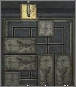 Przesuń dwa podłużne klocki z lewej strony w górę - Powrót przez cmentarz - Shepherd's Glen - Silent Hill: Homecoming - poradnik do gry