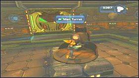 Po wyjściu z pomieszczenia, wdrap się na dach po drabinie, która jest po lewej stronie - Azoream Sea - Opis przejścia - Ratchet & Clank: Quest for Booty - poradnik do gry