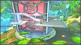Następnie wybij się do góry, po czym przeskocz na kolejne kładki, nie wpadając przy tym na czarny dym - Hoolefar Island (1) - Opis przejścia - Ratchet & Clank: Quest for Booty - poradnik do gry