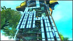 Po teleportacji z poprzedniej wieży ruszaj na wprost w kierunku wiatraków - Hoolefar Island (1) - Opis przejścia - Ratchet & Clank: Quest for Booty - poradnik do gry