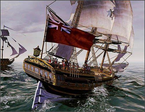 Na rufie znajdują się kajuty kapitana i starszych stopniem oficerów - Co atakować? - Bitwy morskie - Empire: Total War - poradnik do gry