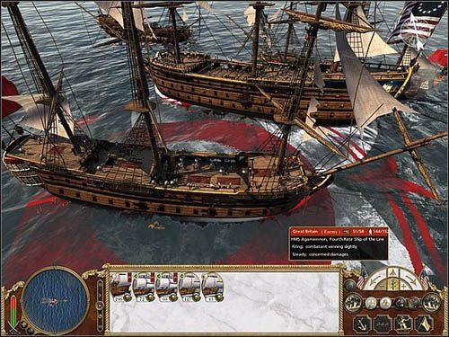 Niszczenie burty i armat często bywa zajęciem bardzo czasochłonnym - Co atakować? - Bitwy morskie - Empire: Total War - poradnik do gry