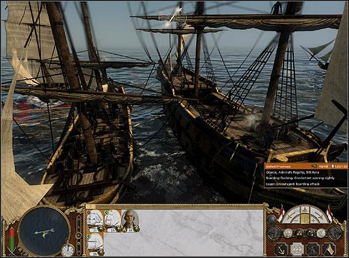 W trakcie walki sprawdzaj stan atakowanej przez Ciebie jednostki poprzez umieszczanie kursora na niej - Abordaże - Bitwy morskie - Empire: Total War - poradnik do gry