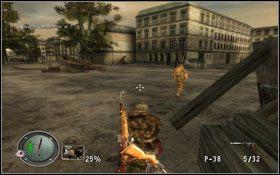 Podnosimy apteczkę oraz amunicję do karabinu i ruszamy przed siebie - [Opis przejścia] Brama Brandenburska - Sniper Elite: Berlin 1945 - poradnik do gry