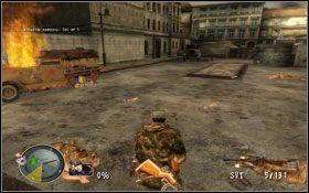 Nasz główny cel [1] pojawi się po chwili w miejscu oznaczonym jako [05] - [Opis przejścia] Brama Brandenburska - Sniper Elite: Berlin 1945 - poradnik do gry