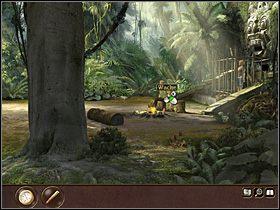W mi�dzyczasie by�y ch�opak Niny, Max, dociera do obozu archeologicznego w indonezyjskiej d�ungli - Indonezja - D�ungla (cz.1) - Tajne akta 2: Puritas Cordis - poradnik do gry