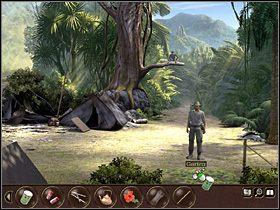 Przeszedłszy w prawo zabiera siatkowe ogrodzenie oraz bambusową tyczkę , na której ono leżało - Indonezja - Dżungla (cz.1) - Tajne akta 2: Puritas Cordis - poradnik do gry