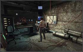 W korytarzu, tuż po wyjściu z pomieszczenia z osłonami jest kolejne urządzenie - A Frosty Reception (cz.1) - Rozdział 1 Origins - X-Men Origins: Wolverine - poradnik do gry