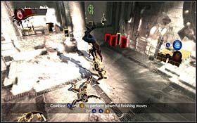 Teraz musisz wrócić spory kawałek drogi, do pomieszczenia, w którym Logan odzyskał możliwość regeneracji - A Frosty Reception (cz.2) - Rozdział 1 Origins - X-Men Origins: Wolverine - poradnik do gry