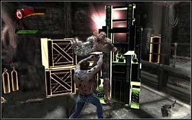 Otw�rz cel�, a po cut-scence staw czo�o nowemu wrogowi: wyposa�onym w mechaniczne rami� Golathom - A Frosty Reception (cz.2) - Rozdzia� 1 Origins - X-Men Origins: Wolverine - poradnik do gry