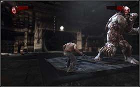 Z korytarza, z kt�rego wyszli dwaj Goliaci zabierz nie�miertelnik - The Escape - Rozdzia� 1 Origins - X-Men Origins: Wolverine - poradnik do gry