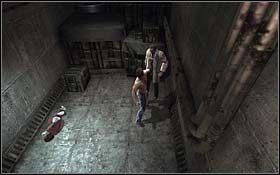 W przylegaj�cym do gara�u pokoju znajdziesz naukowca i dziewczynk� - The Escape - Rozdzia� 1 Origins - X-Men Origins: Wolverine - poradnik do gry