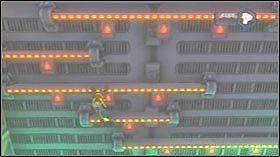 Teraz dostań się na górę odbijając się od szarych ścian - Stratus City, Planet Kortog - Opis przejścia - Ratchet & Clank: Tools of Destruction - poradnik do gry