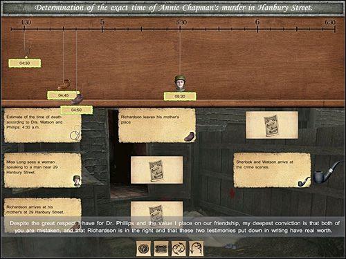 Na tej samej zasadzie kliknij (trzecią po lewej) notatkę z ikonką Dialogów - [Opis przejścia] Baker Street, 12 września 1888 (cz.1) - Sherlock Holmes kontra Kuba Rozpruwacz - poradnik do gry