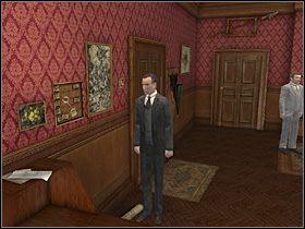 Po krótkiej wymianie zdań skieruj Holmesa do przeciwnej ściany (na lewo od drzwi wyjściowych) - [Opis przejścia] Baker Street, 12 września 1888 (cz.1) - Sherlock Holmes kontra Kuba Rozpruwacz - poradnik do gry
