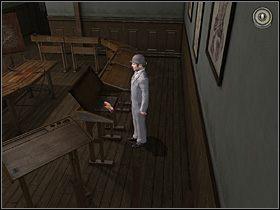 Następnie skieruj Watsona na drugą część sali, tam gdzie znajdują się ławki studentów - [Opis przejścia] London Hospital, 12 września 1888 - Sherlock Holmes kontra Kuba Rozpruwacz - poradnik do gry