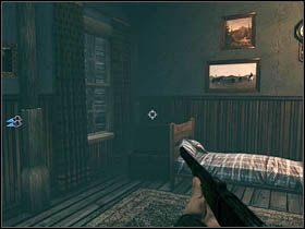 Trzeci ukrył się w skrzyni w pomieszczeniu, w którym przestraszymy mieszkankę (a Ray zaklnie) - Sekrety - Rozdział III - Call of Juarez: Więzy Krwi - poradnik do gry