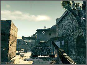 W ten sposób dotrzesz pomiędzy budynki - Opis przejścia (1) - Rozdział IV - Call of Juarez: Więzy Krwi - poradnik do gry