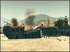 Po zabiciu wszystkich oponentów znajdujących się w pobliżu, opuść świątynię w celu rozprawienia się ze strzelcami na dachu oddalonego budynku - Opis przejścia (2) - Rozdział IV - Call of Juarez: Więzy Krwi - poradnik do gry