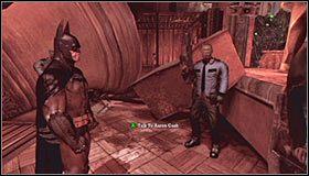 Przejdź na drugi koniec balkoniku - Arkham Mansion #2 - Opis przejścia - Batman: Arkham Asylum - poradnik do gry