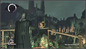 Tu wysłuchaj ostrzeżenia o pojawieniu się wrogiego snajpera - Arkham Island #7 - Opis przejścia - Batman: Arkham Asylum - poradnik do gry