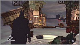 Zaczekaj aż Batman wygrzebie się z grobu i ruszaj w stronę pokazanego na pierwszym screenie podwyższenia - Intensive Treatment #2 (cz.1) - Opis przejścia - Batman: Arkham Asylum - poradnik do gry