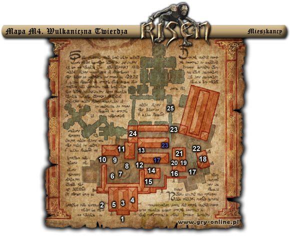 1 - (Mapa M4) Wulkaniczna Twierdza - mieszkańcy - Rozdział 1 - Risen - poradnik do gry