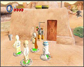 Zbuduj z klocków silnik dla śmigacza i przeleć nim na prawo, na druga stronę bagna - Chapter 2 - Through the Jundland Wastes - Story Mode - Episode 4 - LEGO Star Wars: The Complete Saga - poradnik do gry