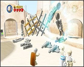 Gdy skompletujesz AT-ST, wsiądzie do niego jeden szturmowiec - Chapter 3 - Mos Eisley Spaceport - Story Mode - Episode 4 - LEGO Star Wars: The Complete Saga - poradnik do gry