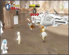 Dotarłeś do doku Sokoła Millenium - Chapter 3 - Mos Eisley Spaceport - Story Mode - Episode 4 - LEGO Star Wars: The Complete Saga - poradnik do gry