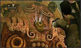 Podobnie jak poprzednim razem, skieruj si� w stron� czerwonej twarzy, po nieobni�onym jeszcze fragmencie sztyletu - Rozdzia� 9 �cie�ka �wiat�o�ci - Opis przej�cia - Uncharted 2: Among Thieves - poradnik do gry
