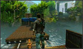Następnie skieruj się do końca wagonu, poczym przeskocz na sąsiedni, ten z cysterną - Rozdział 13 Lokomotywa - Opis przejścia - Uncharted 2: Among Thieves - poradnik do gry