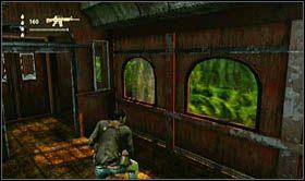 Dojdzie tam do walki z kilkoma przeciwnikami, a znajdując się we wnętrzu wagonu, dojdzie do zaskryptowanej akcji - Rozdział 13 Lokomotywa - Opis przejścia - Uncharted 2: Among Thieves - poradnik do gry