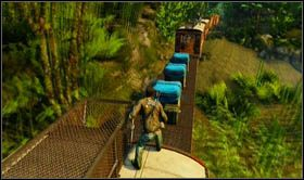 Ponownie trzymając się ściany wagonu, skieruj się w górę pociągi i wejdź po drabince na dach [sekret 2] - Rozdział 13 Lokomotywa - Opis przejścia - Uncharted 2: Among Thieves - poradnik do gry