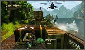 Wskakując do kolejnego wagonu, załączy się scenka rozpoczynająca najtrudniejszy moment etapu - walkę o przetrwanie - Rozdział 13 Lokomotywa - Opis przejścia - Uncharted 2: Among Thieves - poradnik do gry