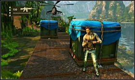 Po dotarciu do kolejnych ładunków nakrytych niebieską plandeką, przygotuj się na ostatni i zarazem najtrudniejszy fragment rozgrywki - Rozdział 13 Lokomotywa - Opis przejścia - Uncharted 2: Among Thieves - poradnik do gry