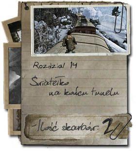 Etap czternasty jest kontynuacją przejażdżki pociągiem - Rozdział 14 Światełko na końcu tunelu - Opis przejścia - Uncharted 2: Among Thieves - poradnik do gry