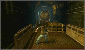 Na samym początku rozdziału nie natkniesz się na żaden opór ze strony sił przeciwnika, z tego też powodu skieruj się w stronę wagonu z cysterną - Rozdział 14 Światełko na końcu tunelu - Opis przejścia - Uncharted 2: Among Thieves - poradnik do gry
