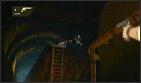 W momencie, gdy do niej dotrzesz, podobnie jak w poprzednim rozdziale, skorzystaj z żółtej rury by przedostać się dalej - Rozdział 14 Światełko na końcu tunelu - Opis przejścia - Uncharted 2: Among Thieves - poradnik do gry