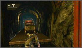 Po dotarciu do pierwszego napotkanego wagonu osobowego, zeskocz do jego wnętrza i pokonaj nie idąc po dachu - Rozdział 14 Światełko na końcu tunelu - Opis przejścia - Uncharted 2: Among Thieves - poradnik do gry
