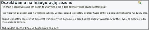 Smutna informacja o budżecie transferowym. Pozostaje jedynie sprzedaż piłkarzy. - Interakcja - Prowadzenie klubu - Football Manager 2010 - poradnik do gry