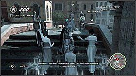 Musimy �ledzi� templariuszy �eby pods�ucha� ich rozmow� - Sekwencja 8 (1) - Fabu�a - Assassins Creed II - PS3 - poradnik do gry