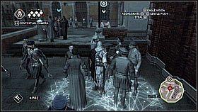 Za rogiem zatrzymaj� si� na chwil�, wi�c nie wybiegamy od razu - Sekwencja 8 (1) - Fabu�a - Assassins Creed II - PS3 - poradnik do gry