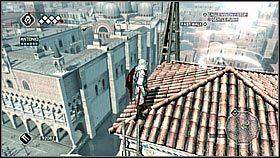 Wchodzimy za poblisk� wie�� a [1] nast�pnie udajemy si� na dach nast�pnej - Sekwencja 8 (1) - Fabu�a - Assassins Creed II - PS3 - poradnik do gry