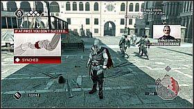 Na dachu bazyliki podbiegamy do ogrodzenia odgradzaj�cego j� od pa�acu - Sekwencja 8 (1) - Fabu�a - Assassins Creed II - PS3 - poradnik do gry