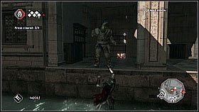 Trzecia, znacznie wi�ksza grupka wrog�w jest na dachach - Sekwencja 8 (2) - Fabu�a - Assassins Creed II - PS3 - poradnik do gry