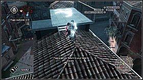Przydaj� si� tutaj mikstury leczenia, bo dzi�ki nim znacznie �atwiej dosta� flag� - Sekwencja 9 (1) - Fabu�a - Assassins Creed II - PS3 - poradnik do gry