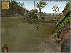 Zanim Jep przeprawi się przez rozlewisko, kliknij ikonkę rozmowy z Miną i każ małpce przytulić się do swej pani - Rozdział trzeci (1) - Opis przejścia - Return to Mysterious Island 2 - poradnik do gry