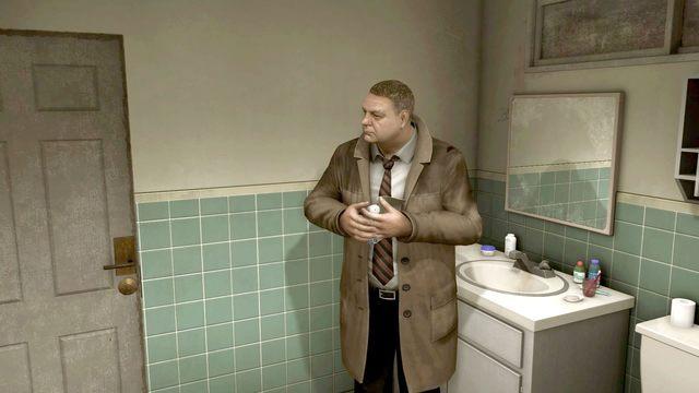 Jak zwykle w łazienkowej apteczce znajdziesz potrzebne przyrządy - Samobójczyni (Suicide Baby) | Opis przejścia Heavy Rain - Heavy Rain - poradnik do gry