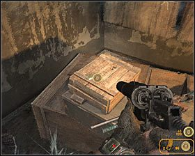 Po znalezieniu się na dole podejdź do przodu, dzięki czemu odnajdziesz jedną ze skrytek #1 - Dead City 1* (1) - Opis przejścia - Rozdział 2 - Metro 2033 - poradnik do gry